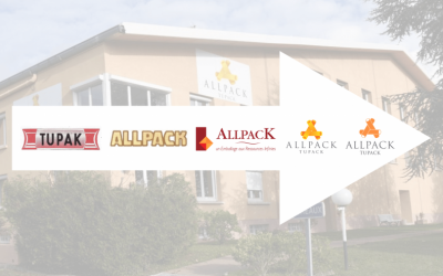 Évolution du logo d'ALLPACK